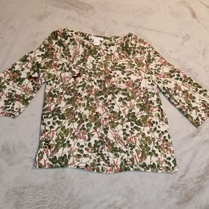 H&M size 2 scoop neckline 3/4 bell sleeves top